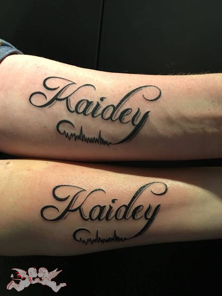 Tekst Tattoos Angel And Demon Tattoo Piercing